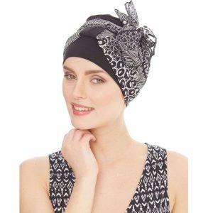 Pañuelos y turbantes en tejidos especiales y sin costuras